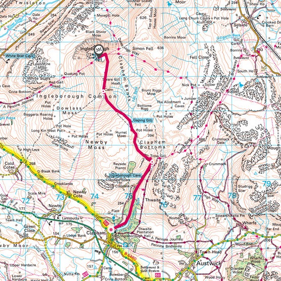 Ingleborough map