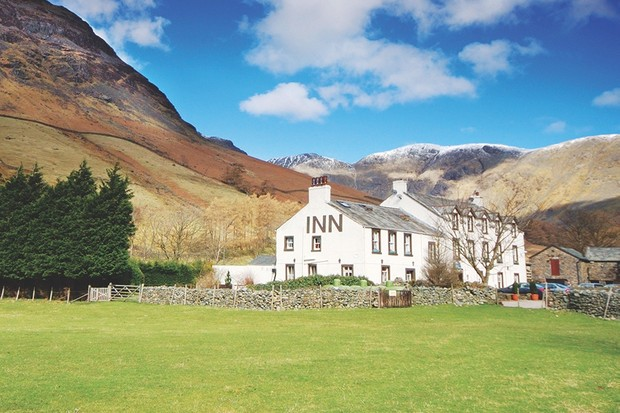 Wasdale Head Inn in Wasdale, Cumbria @Alamy