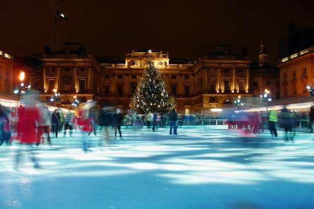 Christmas ice skating UK