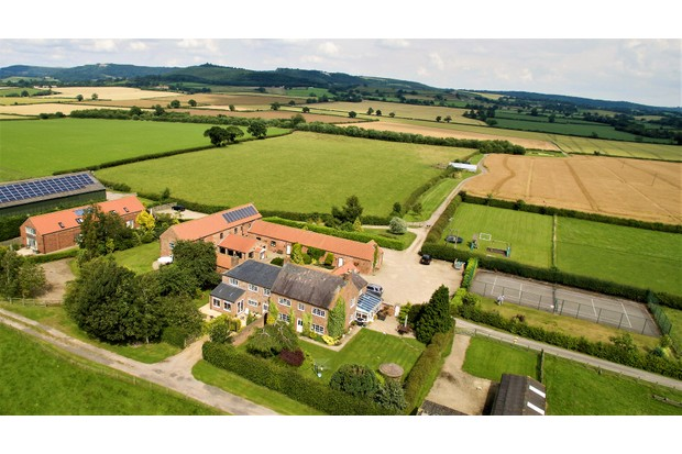 Old Oak Cottages, aerial shot