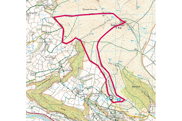 Sugar Loaf mountain, monmouthshire map