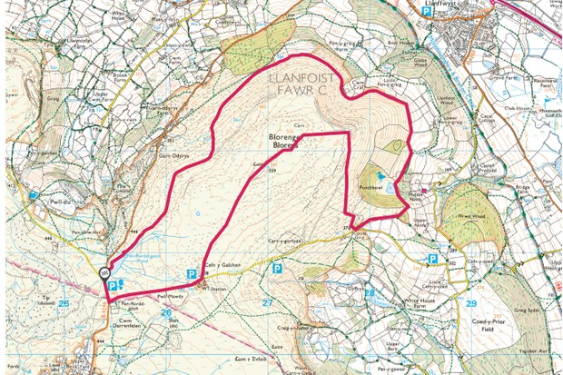 Blorenge map