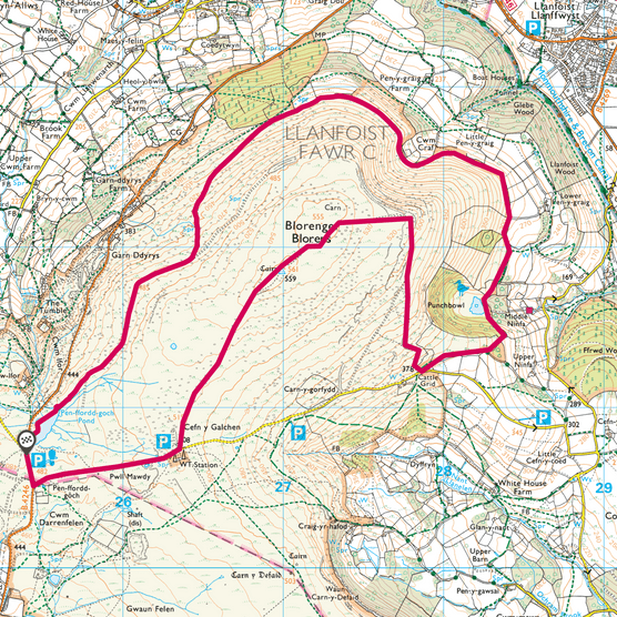 Blorenge map