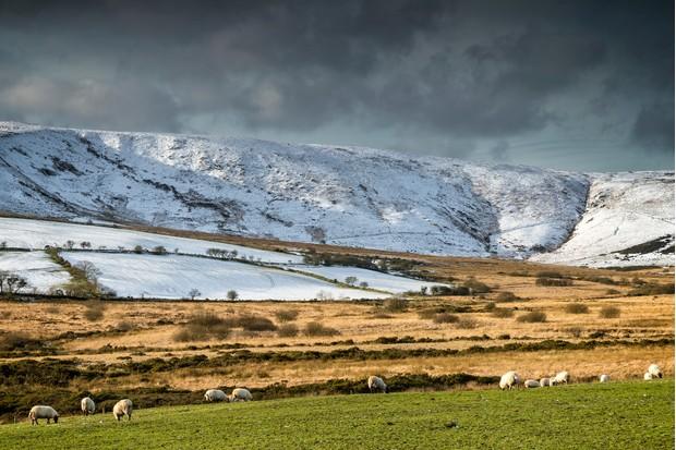 Preseli mountains in snow