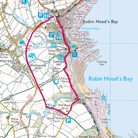 Robin Hood's Bay map