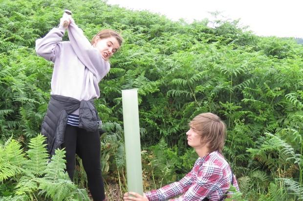 Siân Bentley and Isaac Johnston, Cumbria Wildlife Trust