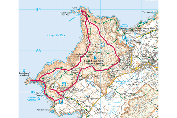 South Stack, Anglesey map