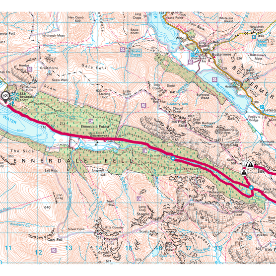 Ennerdale and Haystacks map