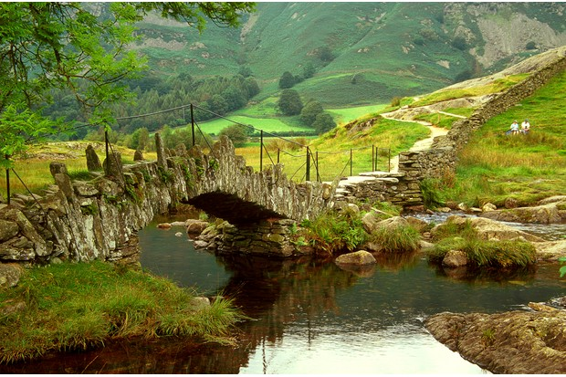 Slater's Bridge at the foot of Lingmoor Fell, a well-known landmark in Little Langdale