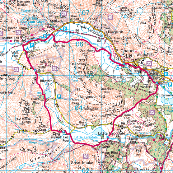 Lingmore Fell map