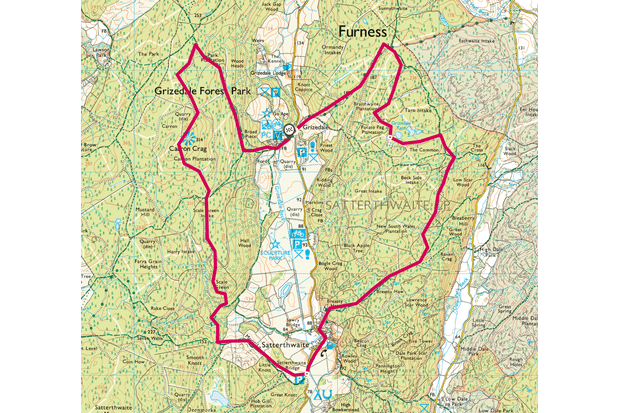 Grizedale Forest map