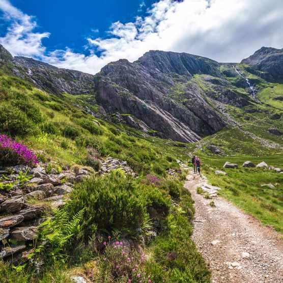 Llyn Idwal lake and mountains, Snowdonia, North Wales