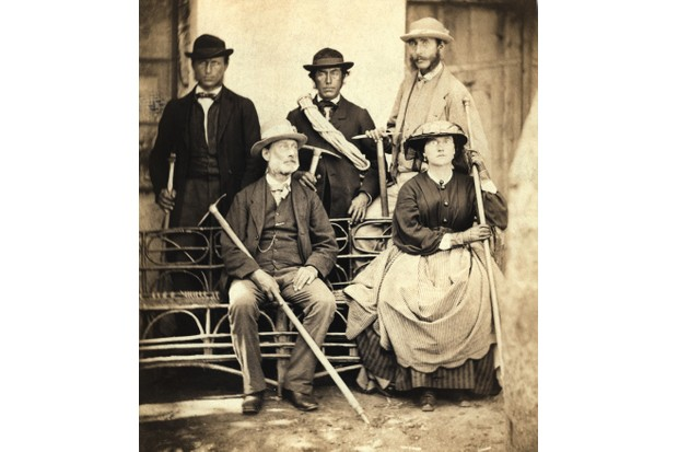 Group of Victorian walkers