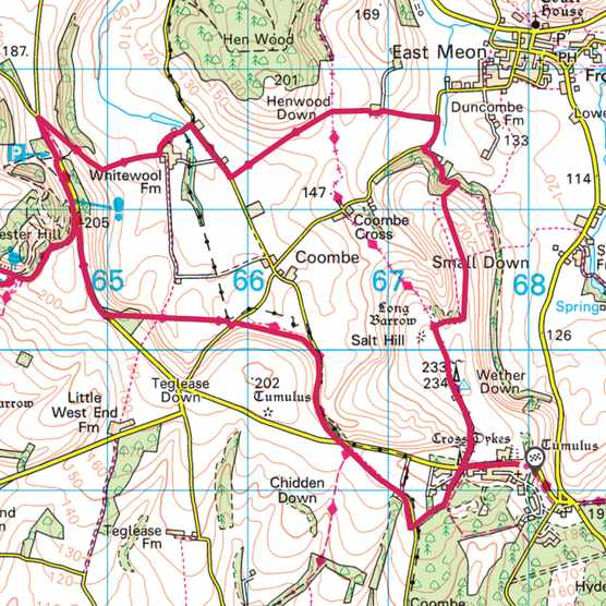 Meon Valley, Hampshire map