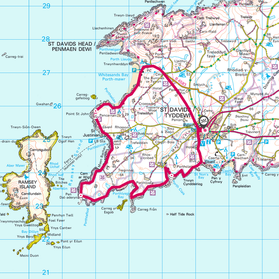 St Davids Head map