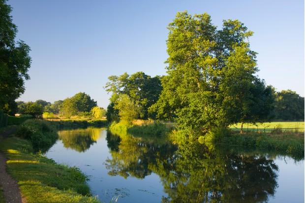 The River Wey Navigation, Send, Surrey, England