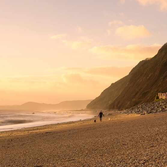 The beach at Branscombe
