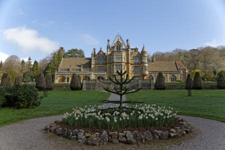The house seen from the garden at Tyntesfield, North Somerset.