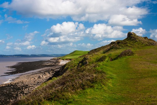 Brean down and headland,somerset,england