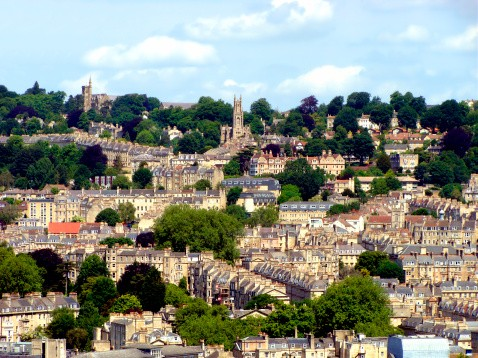 View over Bath, England