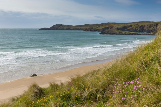 Pembrokeshire coast Whitesands Bay Wales UK