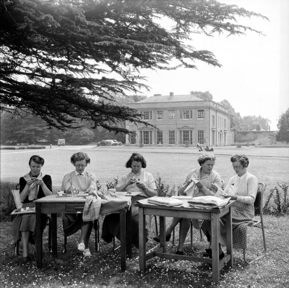 27th June 1953:  Members of the Women's Institute take advantage of state funding to pursue a residential course in handicrafts at Denman College. Original Publication: Picture Post - 6557 - The W.I. - pub. 1953  (Photo by Picture Post/Hulton Archive/Getty Images)