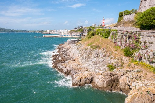 Coastline in Plymouth
