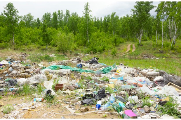 Illegal dump outside the city
