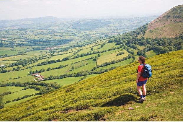The route walks along a section of the Offa's Dyke Path
