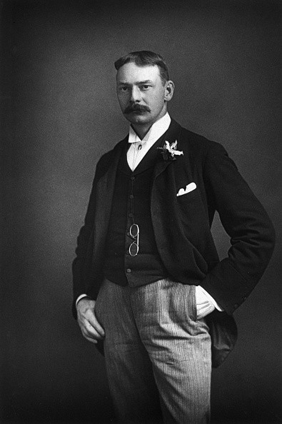 Jerome K. Jerome (1859-1927), the British writer, best known for his comic novel Three Men in a Boat. (Photo by © Hulton-Deutsch Collection/CORBIS/Corbis via Getty Images)