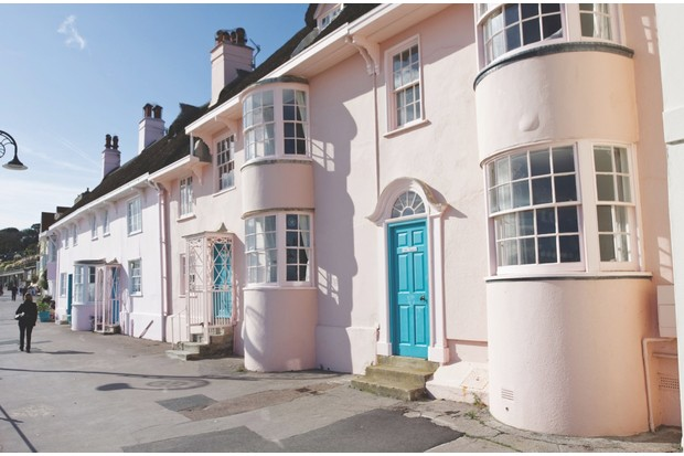 B531YA Historic Cottages dating from early 19th Century and Earlier Lyme Regis Dorset. Image shot 2008. Exact date unknown.