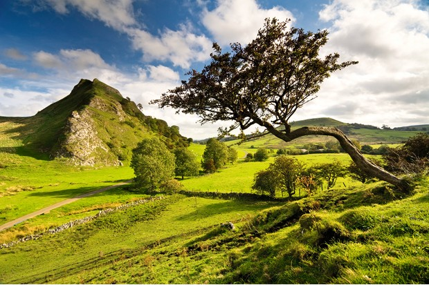 Parkhouse Hill from Chrome Hill, Peak District National Park, Derbyshire, England, UK