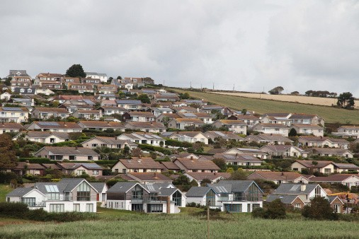 Residential houses in Bantham, England