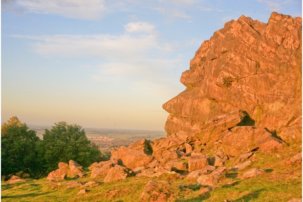 The igneous rocks of Beacon Hill were spewed out 700 million years ago by a volcano at Whitwick, four miles away.
