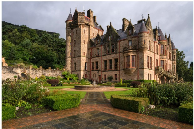 Belfast Castle sits 120m above sea level