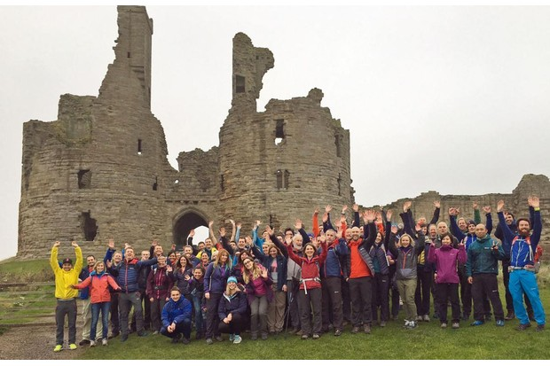 Berghaus-staff-at-Dunstanburgh-Castle-in-Northumberland2C-testing-kit-during-a-sales-launch-1944bb7