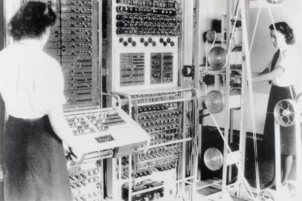 'Wrens' operating the Colossus computer at Bletchley Park, 1943