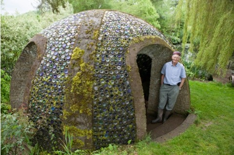 Richard Pim, from Pembridge, a finalist in the eco category of the 2014 Shed of the Year competition sponsored by Cuprinol for his Bottle Grotto shed. The shed has been selected from over 2,000 entries by more than 20,000 public votes. The winner will be announced during Channel 4's Amazing Spaces: Shed of the Year series, to be aired over three episodes, starting on 24th July at 8pm. As well as the prestigious title, the winner will receive £1,000 courtesy of sponsors Cuprinol and a commemorative winners wooden plaque for their shed.