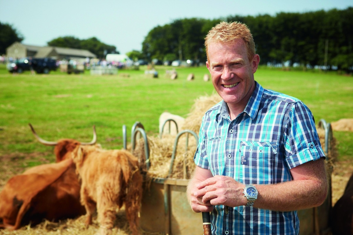 Adam Henson with cow