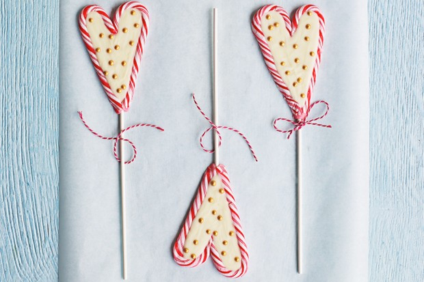 Candy cane lollipops from BBC Good Food