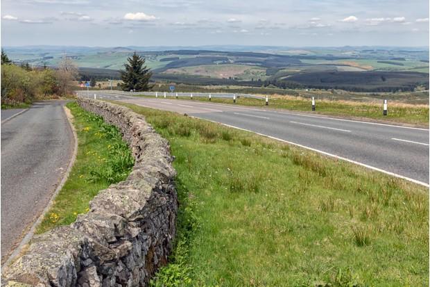 Carter Bar, between England and Scotland