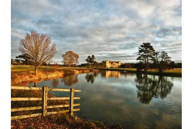 Croome Court from across the river croome