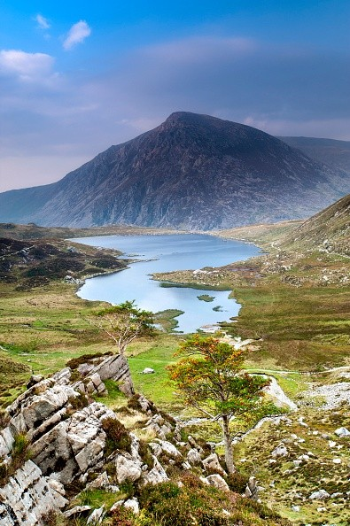 Cwm Idwal and Llyn Idwal backed by Pen Yr Ole Wen, Cwm Idwal, Wales. (Photo by: Loop Images/UIG via Getty Images)