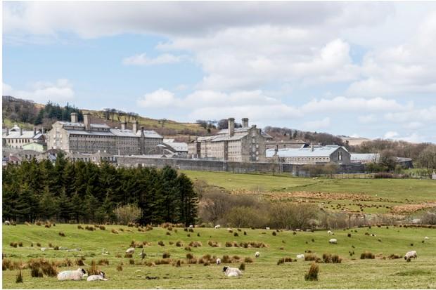 Dartmoor Prison in Princetown, Devon, UK