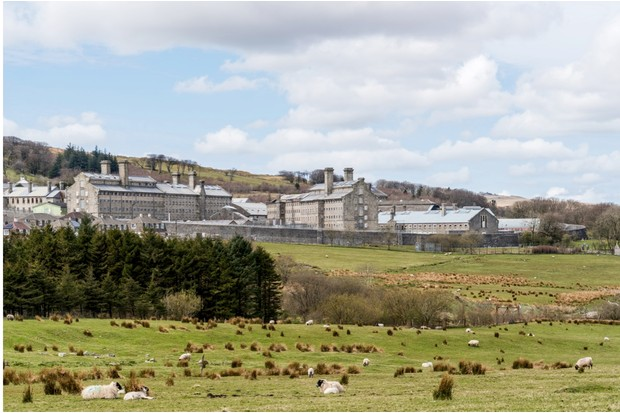 Dartmoor Prison in Princetown, Devon, UK