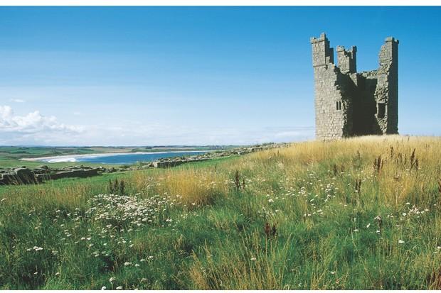 Embleton Bay from Dunstanburgh Castle.