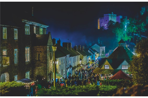 Christmas illuminations– every winter, the village of Dunster and its 11th-century castle remembers its medieval past, lighting up its streets and houses with lanterns and candlelight