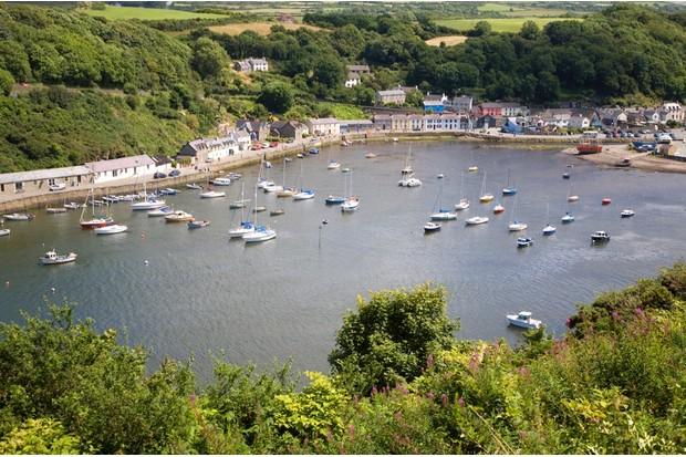 Fishguard harbour, Pembrokeshire, Wales