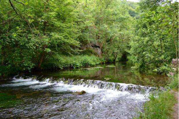 Tranquil river scene on the River Dove
