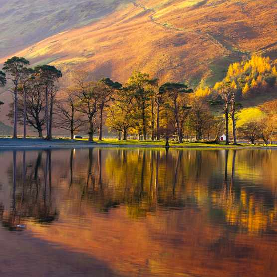 Lake Buttermere Lake District National Park Cumbria England